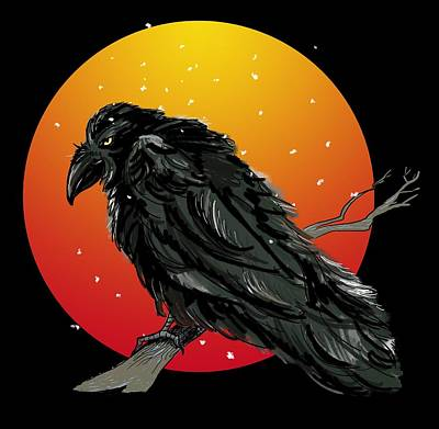 Raven Art Print by Anna Kutuzova