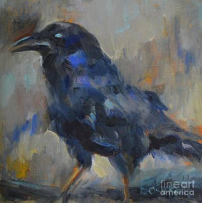 Raven At Tower Of London Original by Barbara Daggett