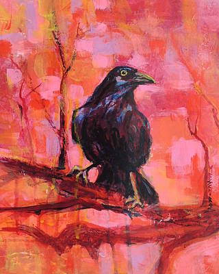 Painting - Raven Bright by Mary Schiros