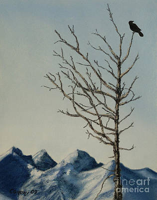 Art Print featuring the painting Raven Brought Light by Stanza Widen