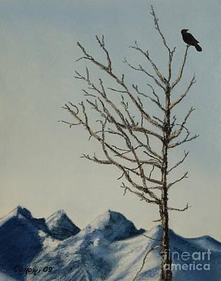 Raven Brought Light Art Print by Stanza Widen