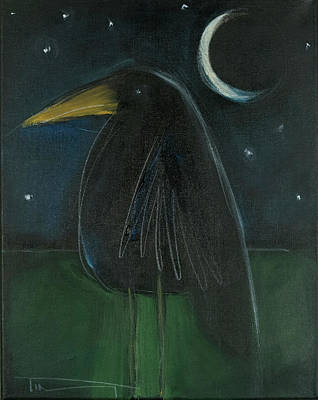 Painting - Raven By Moonlight No. 2 by Tim Nyberg