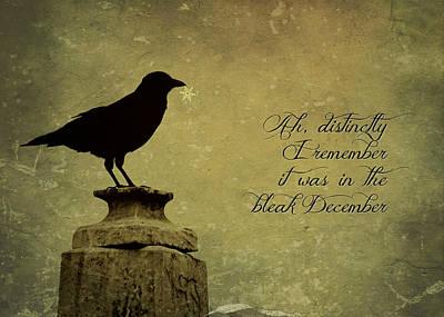 Photograph - Raven Card by Brenda Conrad