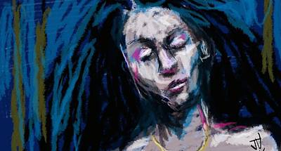 Digital Art - Raven Hair by Jim Vance