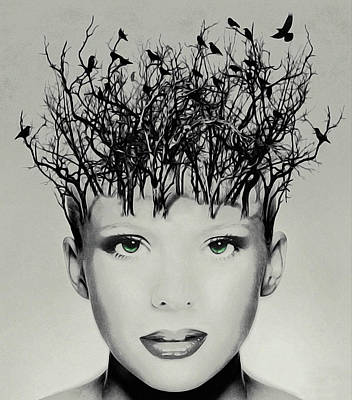 Lovely Lavender - Raven-Haired Beauty by Susan Maxwell Schmidt