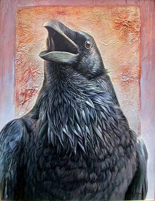 Painting - Raven by Hans Droog