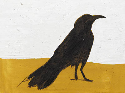 Crows Painting - Raven In Soot by Sophy White
