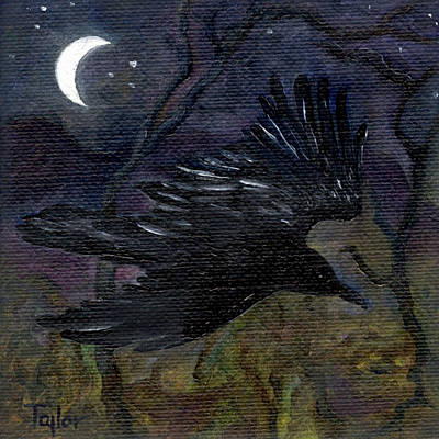 Painting - Raven In Stars by FT McKinstry