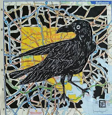 Baltimore Mixed Media - Raven by John Parish