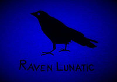 Photograph - Raven Lunatic Blue by Rob Hans