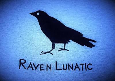 Photograph - Raven Lunatic Cyan by Rob Hans