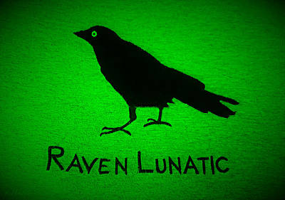 Photograph - Raven Lunatic Green by Rob Hans