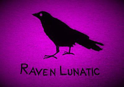 Photograph - Raven Lunatic Purple by Rob Hans
