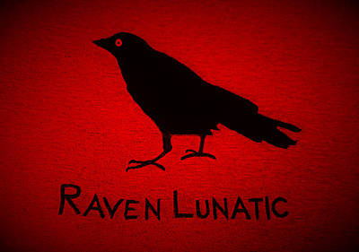 Photograph - Raven Lunatic Red by Rob Hans