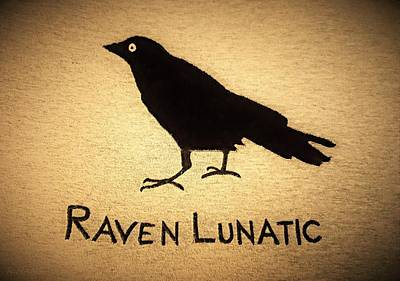 Photograph - Raven Lunatic Sepia by Rob Hans