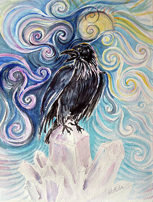 Painting - Raven Magic by Christie Michelsen