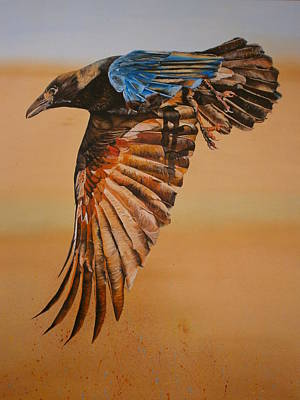 Shower Head Painting - Raven by Maria Woithofer