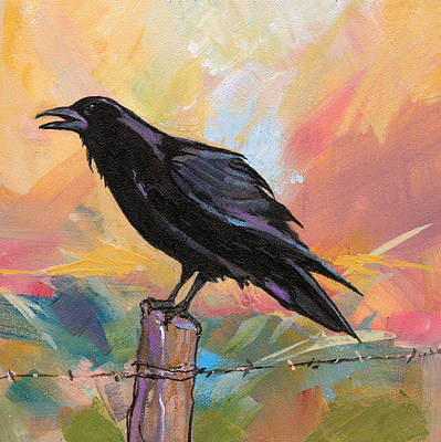 Painting - Raven by Marty Husted