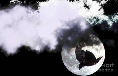 Photograph - Raven Moon by Clayton Bruster