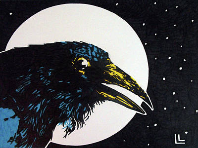 Painting - Raven Moon by Lindi Levison
