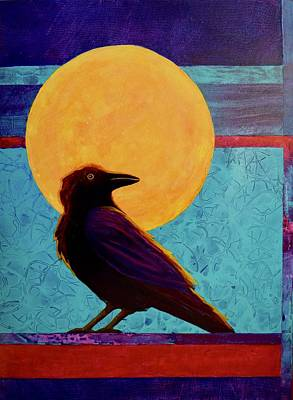 Painting - Raven Moon by Nancy Jolley