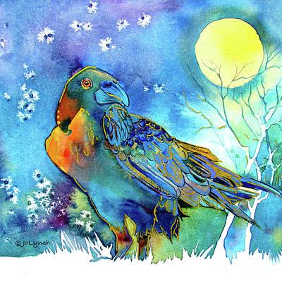 Raven Night Spirit Art Print