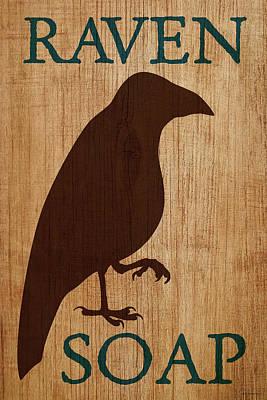 Digital Art - Raven Soap by WB Johnston