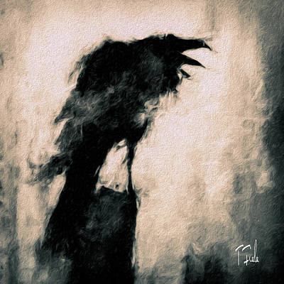 Digital Art - Raven On A Frosty Dawn by Terry Fiala