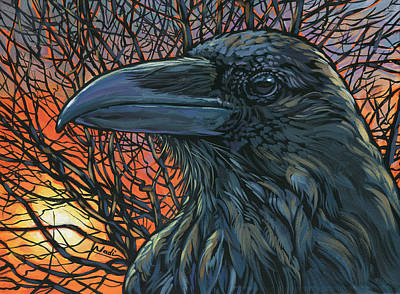 Raven Orange Art Print by Nadi Spencer