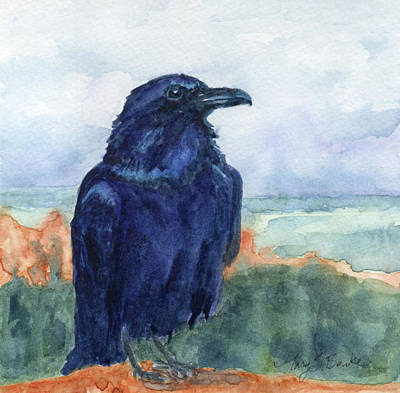 Painting - Raven Overlook by Mary Benke