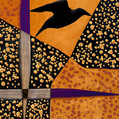 Black Birds Photograph - Raven Paints Light by Carol Leigh