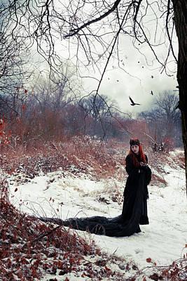 Crow Digital Art - Raven Queen by Cambion Art