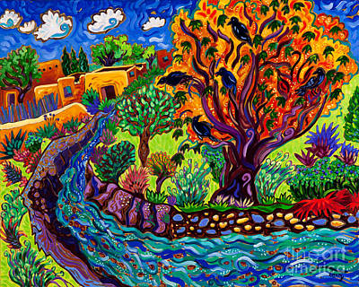 Succulents Painting - Raven River by Cathy Carey