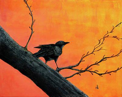 Raven Art Print by Robert Hooper