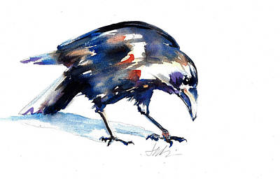 Painting - The Raven by Jacki Kellum