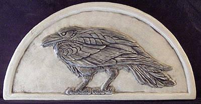 Ceramic Sculpture - Raven by Shannon Gresham