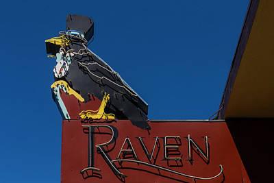 Raven Sign Art Print by Garry Gay