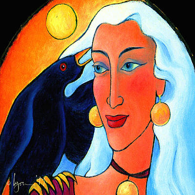 Raven Speaks Art Print by Angela Treat Lyon