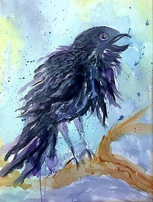Painting - Raven Speaks  by Ellen Levinson