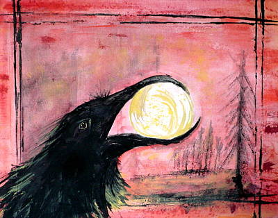 Painting - Raven Steals The Sun by 'REA' Gallery
