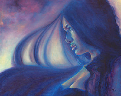Art Print featuring the painting Raven Sunrise by Ragen Mendenhall