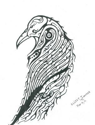 Raven Totem Original by Elliot Janvier