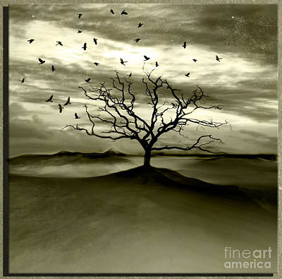 Raven Valley Art Print by Jacky Gerritsen