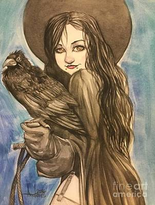 Painting - Raven Witch by Jimmy Adams