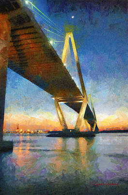 Ravenel Bridge Art Print