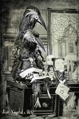 Ravens For Halloween Art Print
