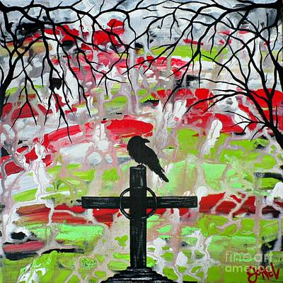 Painting - Raven's Night by JoNeL Art
