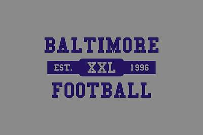 Baltimore Ravens Wall Art - Photograph - Ravens Retro Shirt by Joe Hamilton