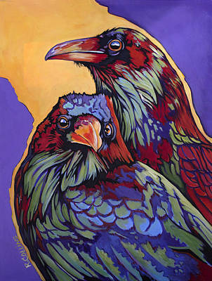 Mockingbird Painting - Raven's Roost by Rose Collins