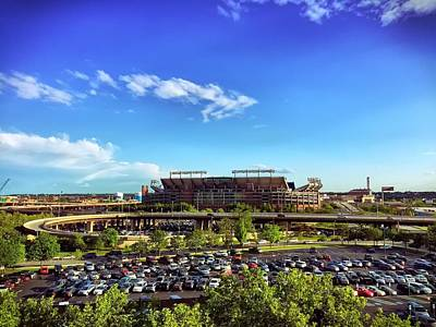 Photograph - Ravens Stadium by Chris Montcalmo
